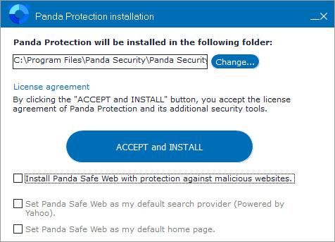 Panda Free Antivirus Yahoo toolbar