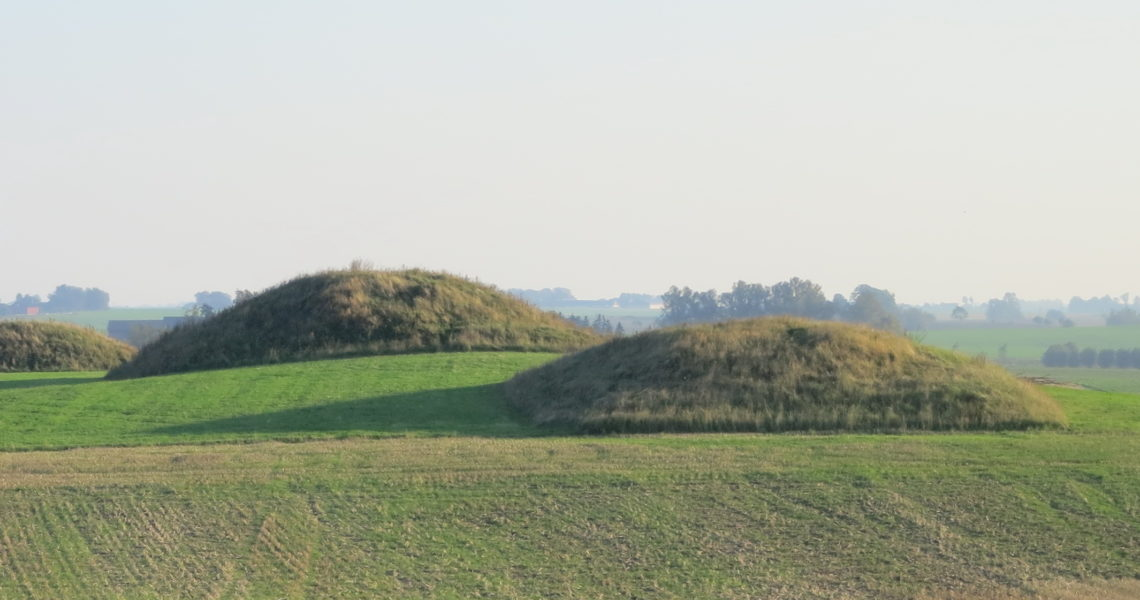 Storehög och lillehög, gravhögar i Fuglie socken
