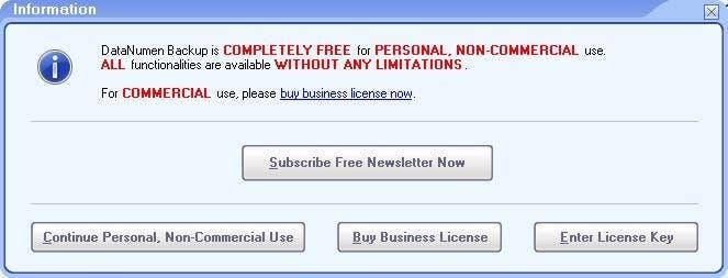 DataNumen Backup license