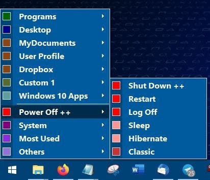 Start Everwhere power menu