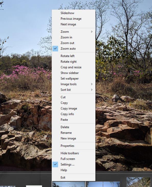 XlideIt Image Viewer - context menu