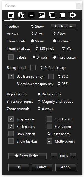 Xlideit Image Viewer floating panel