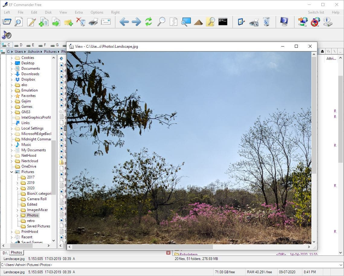 EF Commander Free image viewer