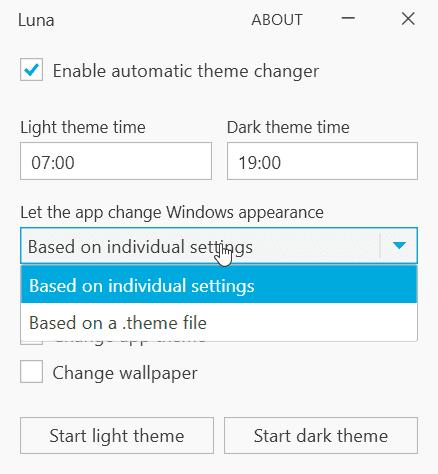 Luna change custom theme 2