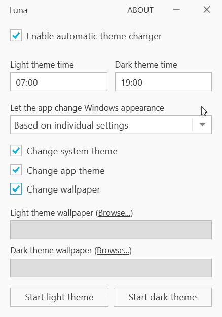 Luna change wallpaper