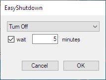 Oxybits Easyshutdown menu