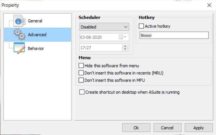 Asuite task scheduler