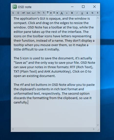 OSD interface