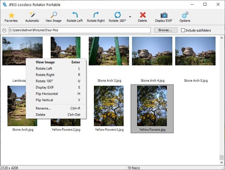 JPEG Lossless Rotator right-click menu