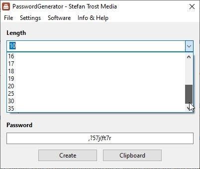 PasswordGenerator length
