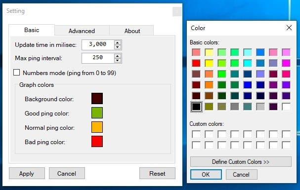 PingoMeter Change graph color