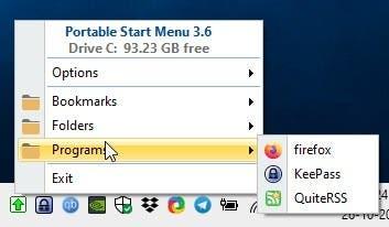 Portable Start Menu folders