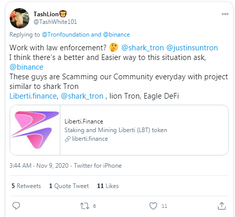 Sharktron Defi Project Devs in Exit Scam:Tron Foundation Says Part of Missing Funds Now Frozen
