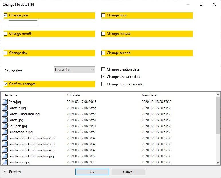 Alternate Archiver - change timestamp