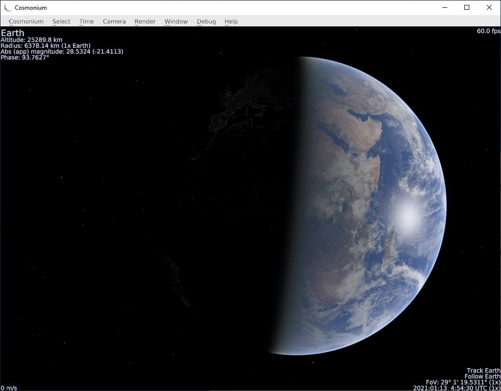 Cosmonium day and light view