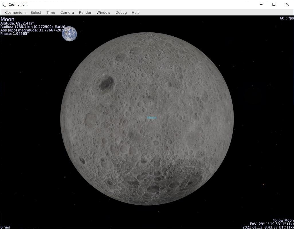 Cosmonium default graphics