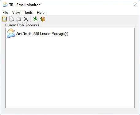 TaskRunner Email Monitor interface