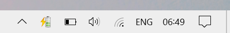new battery icon windows