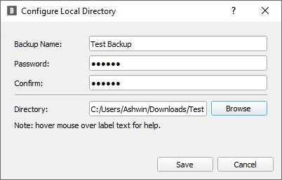 BlobBackup add new backup task local