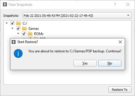 BlobBackup restore backup task 2