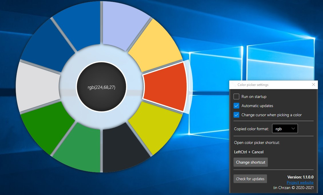 ColorPicker color wheel