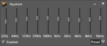 Fox Tunes equalizer