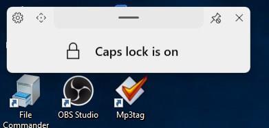 ModernFlyouts lock keys