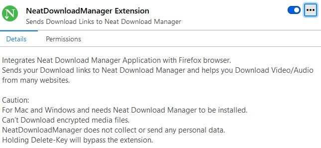 Neat Download Manager browser integration