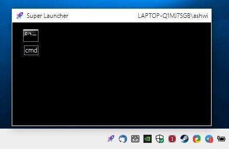 SuperLauncher interface