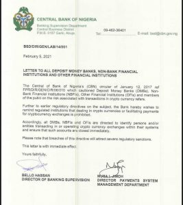 Central Bank of Nigeria Orders Banks to Close Accounts of Crypto Clients as Remittances via Traditional Corridors Drop by 97%