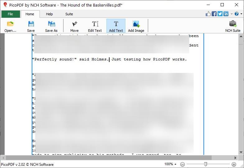 PicoPDF add text