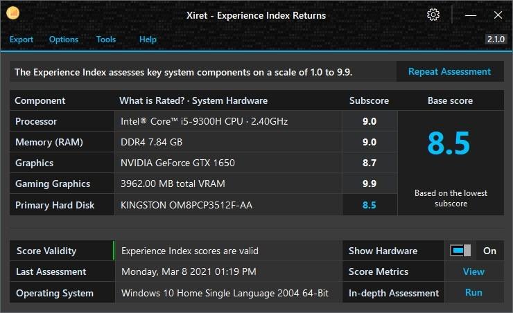 Xiret system hardware