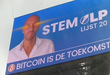 Dutch Political Candidate Puts Up 'Bitcoin Is the Future' Billboards With Laser Eyes